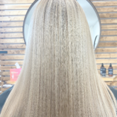 Balayage highlights with icy cool tone